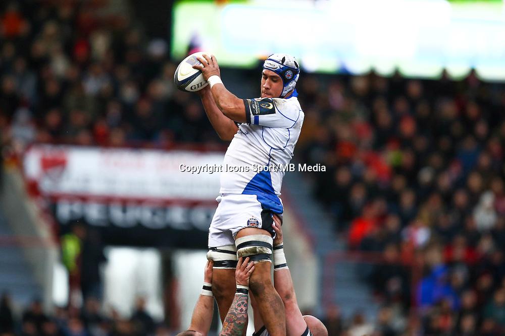 Leroy Houston - 18.01.2015 - Toulouse / Bath - European Champions Cup<br /> Photo : Manuel Blondeau / Icon Sport