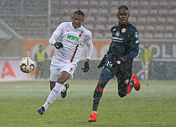 03.02.2019, 1.BL, 20. Spieltag, FC Augsburg vs Mainz 05, WWK Arena Augsburg, Fussball, Sport, im Bild:..Sergio Cordova (FC Augsburg) vs Moussa Niakhate ( Mainz 05)..DFL REGULATIONS PROHIBIT ANY USE OF PHOTOGRAPHS AS IMAGE SEQUENCES AND / OR QUASI VIDEO...Copyright: Philippe Ruiz..Tel: 089 745 82 22.Handy: 0177 29 39 408.e-Mail: philippe_ruiz@gmx.de (Credit Image: © Philippe Ruiz/Xinhua via ZUMA Wire)