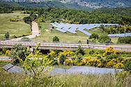 Sasso di Castalda, Basilicata, Italia, 23/05/2016<br /> Parco fotovoltaico nel comune di Sasso di Castalda.<br /> <br /> Sasso di Castalda, Basilicata, Italy, 23/05/2016<br /> Photovoltaic farm in the territory of Sasso di Castalda