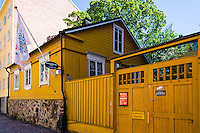 Finland, Helsinki. Burgher's House. The oldest surviving wooden house in the city dates from 1818.