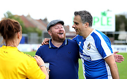 Wael Al-Qadi president of Bristol Rovers FC talks with fans - Mandatory by-line: Robbie Stephenson/JMP - 04/09/2016 - FOOTBALL - Memorial Stadium - Bristol, England - Bristol Rovers Fans v Bristol City Fans - Bristol Fan Derby