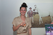 SOPHIA SCHORR-KON, Pop-UP Horsebox Gallery Preview of the Celebration of the Horse in art today  at the Wandsworth Museum,  West Hill. London SW18. 14 August 2012.