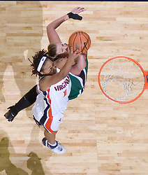 Virginia Cavaliers Forward Lyndra Littles (1) shoots against Charlotte.  The Virginia Cavaliers women's basketball team defeated The University of North Carolina - Charlotte 49ers 74-72 in the 2nd round of the Women's NIT at John Paul Jones Arena in Charlottesville, VA on March 19, 2007.