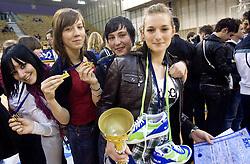 Finalna kosarkarska tekma med Solskim centrom Celje in Gimnazijo Sentvid in zakljucek SKL 2010, on April 14, 2010, in Hala Tivoli, Ljubljana, Slovenia.  (Photo by Vid Ponikvar / Sportida)