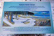 Interpretive sign at Ehrman Mansion, Sugar Pine Point State Park, Lake Tahoe, California