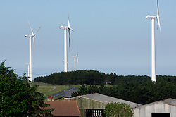 Wind farm in countryside NE England