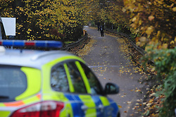 © Licensed to London News Pictures. 15/11/2016. An area sealed off by police on Stable Lane in Bexley following a murder at a local boxing gym. A man in in his 20s was stabbed at the Double K gym in Bexley, which is reported to be run by Idris Elba's trainer Kieran Keddle. Photo credit: Grant Falvey/LNP