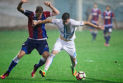 Marko Futacs of HNK Hajduk vs Josip Elez of HNK Rijeka during football match between HNK Rijeka and HNK Hajduk Split in Round #15 of 1st HNL League 2016/17, on November 5, 2016 in Rujevica stadium, Rijeka, Croatia. Photo by Vid Ponikvar / Sportida
