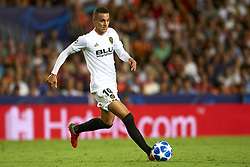 September 19, 2018 - Valencia, Spain - Rodrigo Moreno controls the ball during the Group H match of the UEFA Champions League between Valencia CF and Juventus at Mestalla Stadium on September 19, 2018 in Valencia, Spain. (Credit Image: © Jose Breton/NurPhoto/ZUMA Press)
