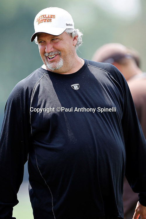 Cleveland Browns Defensive Coordinator Rob Ryan shares a laugh during NFL football training camp at the Cleveland Browns Training Complex on Monday, August 9, 2010 in Berea, Ohio. (©Paul Anthony Spinelli)