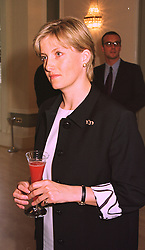 MISS SOPHIE RHYS-JONES a close friend of HRH Prince Edward, at a party in London on 9th July 1998.MIY 18