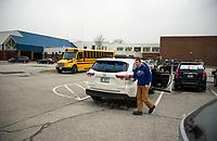 """Gilford Schools """"Teacher Parade"""" through town.  ©2020 Karen Bobotas Photographer"""