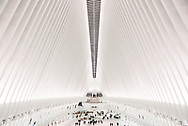 The Oculus structure at the World Trade Center Transportation Hub in lower Manhattan. New York City.
