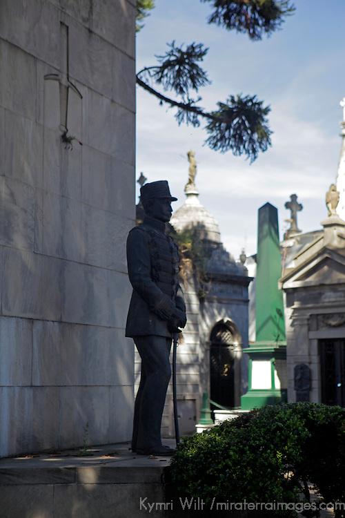 South America, Argentina, Buenos Aires. La Recoleta Cemetary memorial.