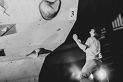 National championship in boulder climbing on November 29, 2015 in Kranj, Slovenia. (Photo By Grega Valancic / Sportida)