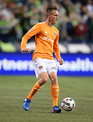 November 30, 2017 - Seattle, Washington, U.S - Soccer 2017: Houston's DYLAN REMICK (15) as the Houston Dynamo play the Seattle Sounders in the 2nd leg of the MLS Western Conference Finals match at Century Link Field in Seattle, WA. (Credit Image: © Jeff Halstead via ZUMA Wire)