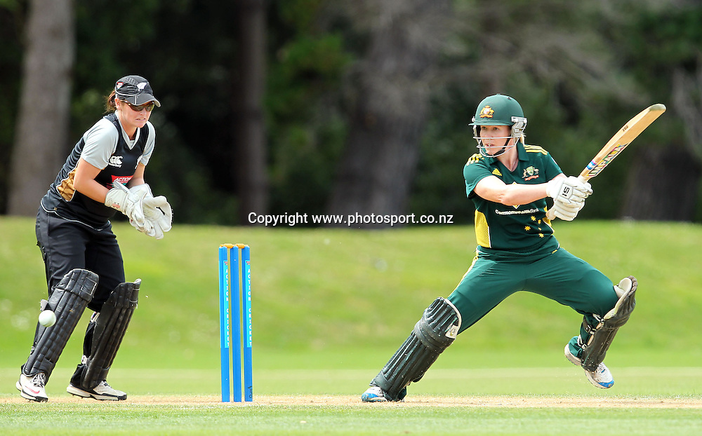Alex Blackwell in action for Australia.<br /> Cricket - Rosebowl Series. Twenty20 International - New Zealand White Ferns v Australia, 20 February 2011, Queens Park, Invercargill, New Zealand.<br /> Photo: Rob Jefferies / www.photosport.co.nz