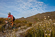 Oak Valley ( Elgin / Grabouw ), SOUTH AFRICA - Scenic view of riders during stage six , 6 , of the Absa Cape Epic Mountain Bike Stage Race in Oak Valley ( Elgin / Grabouw ) on the 27 March 2009 in the Western Cape, South Africa..Photo by Karin Schermbrucker /SPORTZPICS