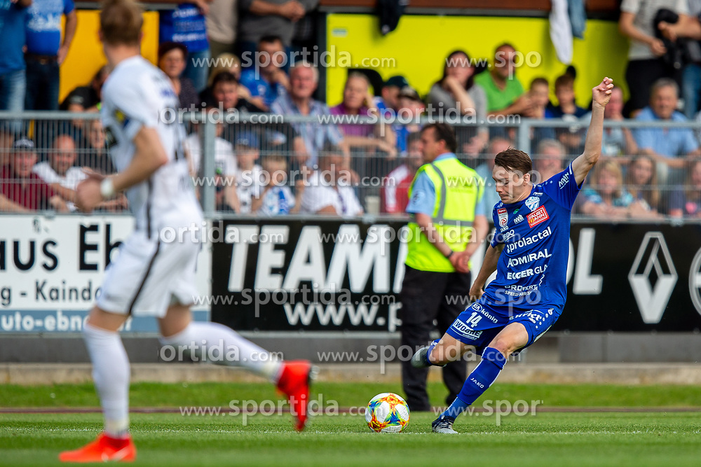 25.05.2019, Profertil Arena Hartberg, Hartberg, AUT, 1. FBL, TSV Prolactal Hartberg vs FC Flyeralarm Admira, Qualifikationsgruppe, 32. Spieltag, im Bild Florian Flecker (TSV Prolactal Hartberg) // during the tipico Bundesliga qualification group 32nd round match between TSV Prolactal Hartberg and FC Flyeralarm Admira at the Profertil Arena Hartberg in Hartberg, Austria on 2019/05/25. EXPA Pictures © 2019, PhotoCredit: EXPA/ Dominik Angerer