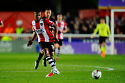 Ollie Watkins (14) of Exeter City on the attack during the EFL Sky Bet League 2 play off second leg match between Exeter City and Carlisle United at St James' Park, Exeter, England on 18 May 2017. Photo by Graham Hunt.