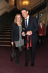 MATTHEW WRIGHT and his wife AMELIA attend the premier of 2012 Cirque du Soleil's Totem at the Royal Albert Hall, London on 5th January 2012,