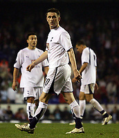 Photo: Paul Thomas.<br /> Tottenham Hotspur v Sevilla. UEFA Cup. Quarter Final, 2nd <br /> <br /> Dejected Spurs' players (L-R) Steed Malbranque, Robbie Keane and Jermaine Jenas.