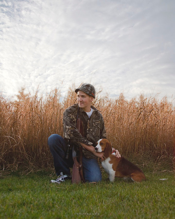 Hunter with Beagle