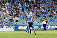 February 8, 2017: Sydney FC forward Alex BROSQUE (captain) (14) in the open field at Round 19 of the 2017 Hyundai A-League match, between Sydney FC and Wellington Phoenix played at Allianz Stadium in Sydney. Sydney FC won the game 3-1.