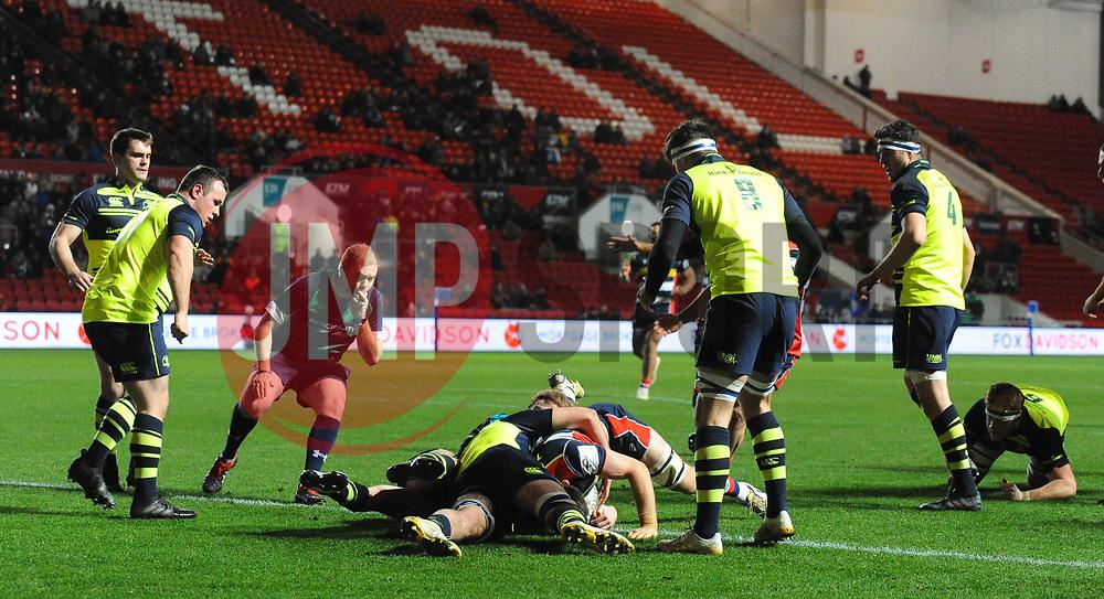 Sam Graham of Bristol Rugby scores  - Mandatory by-line: Alex Davidson/JMP - 08/12/2017 - RUGBY - Ashton Gate Stadium - Bristol, England - Bristol Rugby v Leinster 'A' - B&I Cup