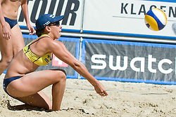 Vivian Danielle da Conceicao Cunha of Brazil at A1 Beach Volleyball Grand Slam tournament of Swatch FIVB World Tour 2010, final, on July 31, 2010 in Klagenfurt, Austria. (Photo by Matic Klansek Velej / Sportida)