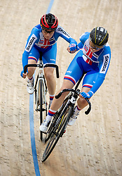 January 26, 2019 - Hong Kong, Hong Kong SAR, China - The Czech team.Women's Madison 20km race.UCI Track Cycling World Cup Hong Kong 2019, Qualifiers Leg VI at the Hong Kong Velodrome in Tseung Kwan O ,Kowloon (Credit Image: © Jayne Russell/ZUMA Wire)