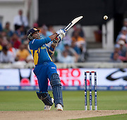 Mahela Jayawardene four during the ICC World Twenty20 Cup match between New Zealand and Sri Lanka at Trent Bridge. Photo © Graham Morris (Tel: +44(0)20 8969 4192 Email: sales@cricketpix.com)