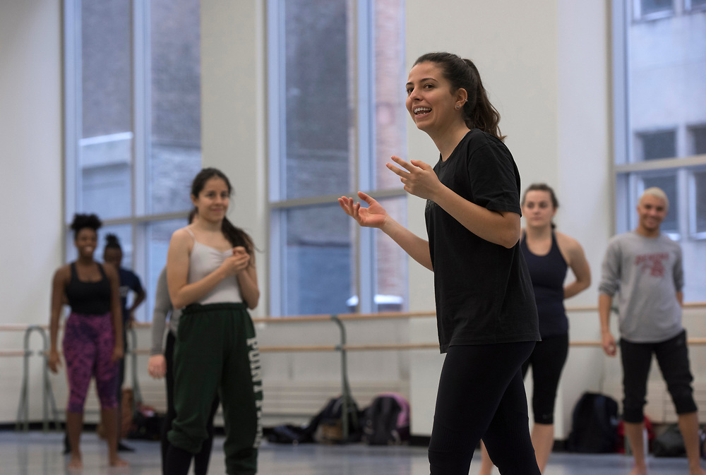 Grupo Corpo master class with student dancers at Point Park University.