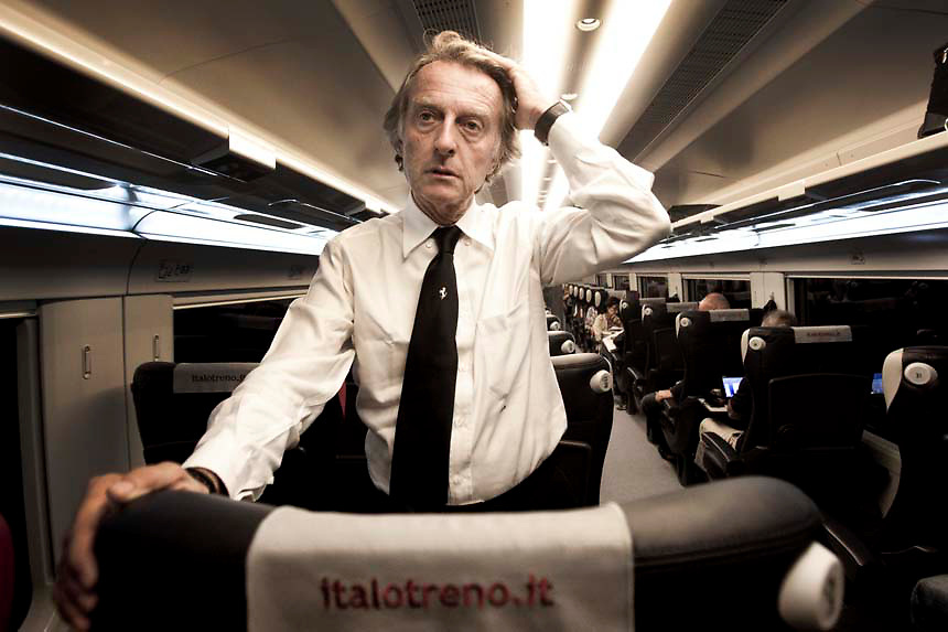 Italo train, run by NTV train is Europe's first private high speed  train service headed by Ferrari boss Luca Cordero di Montezemolo.