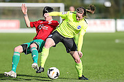 Brighton's Amy Taylor during the FA Women's Premier League match between Coventry United Ladies and Brighton Ladies at Bedford United FC, Bedford, United Kingdom on 21 February 2016. Photo by Shane Healey.