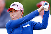 In-kyung Kim  tees off from the 2nd during the Ricoh Women's British Open golf tournament at Royal Lytham and St Annes Golf Club, Lytham Saint Annes, United Kingdom on 4 August 2018. Picture by Simon Davies.