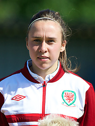 HAVERFORDWEST, WALES - Sunday, August 25, 2013: Wales' Rhian Cleverly before the Group A match of the UEFA Women's Under-19 Championship Wales 2013 tournament at the Bridge Meadow Stadium. (Pic by David Rawcliffe/Propaganda)