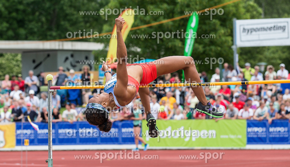 28.05.2016, Moeslestadion, Goetzis, AUT, 42. Hypo Meeting Goetzis 2016, Siebenkampf der Frauen, Hochsprung, im Bild Barbara Nwaba (USA) // Barbara Nwaba of United States in action during the High jump event of the Heptathlon competition at the 42th Hypo Meeting at the Moeslestadion in Goetzis, Austria on 2016/05/28. EXPA Pictures © 2016, PhotoCredit: EXPA/ Peter Rinderer