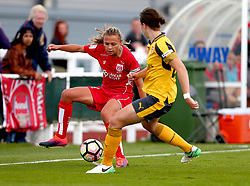 Claire Emslie of Bristol City Women takes on Lotte Wubbon-Moy of Arsenal Ladies - Mandatory by-line: Robbie Stephenson/JMP - 03/06/2017 - FOOTBALL - Stoke Gifford Stadium - Bristol, England - Bristol City Women v Arsenal Ladies - FA Women's Super League Spring Series
