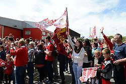 Fans look on during the Bristol City celebration tour - Photo mandatory by-line: Dougie Allward/JMP - Mobile: 07966 386802 - 04/05/2015 - SPORT - Football - Bristol -  - Bristol City Celebration Tour
