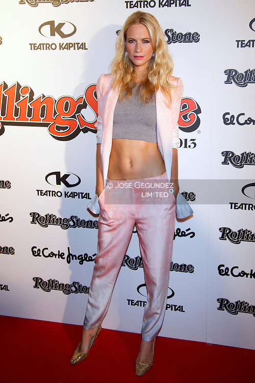 Poppy Delevingne attends Rolling Stone awards 2013 at Teatro Kapital disco on November 28, 2013 in Madrid, Spain.
