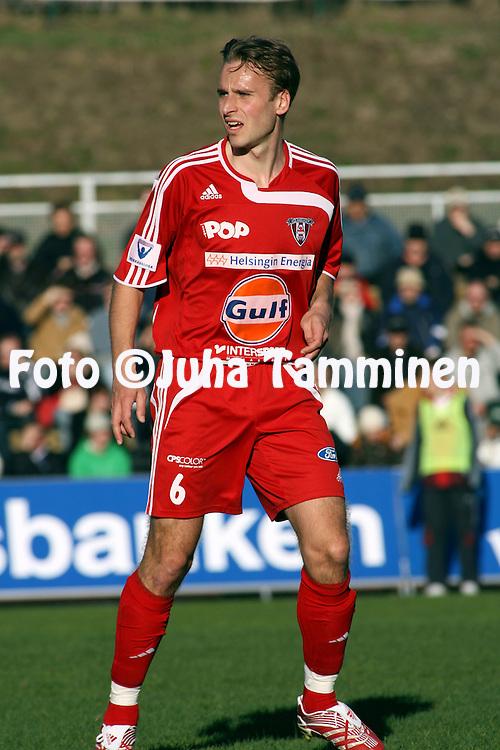 27.04.2007, Vuosaari, Helsinki, Finland..Veikkausliiga 2007 - Finnish League 2007.FC Viikingit - FC Honka.Jukka Hirvonen -  Viikingit.©Juha Tamminen.....ARK:k