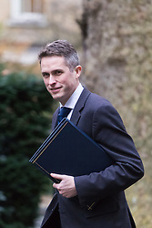 Downing Street, London, February 21st 2017. Chief Whip (Parliamentary Secretary to the Treasury) Gavin Williamson attends the weekly cabinet meeting at 10 Downing Street in London.