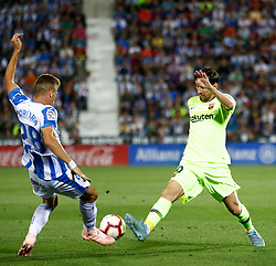 September 26, 2018 - Leo Messi of FC Barcelona during the La Liga (Spanish Championship) football match between CD Leganes and FC Barcelona on September 26th, 2018 at Municipal Butarque stadium in Madrid, Spain. (Credit Image: © AFP7 via ZUMA Wire)