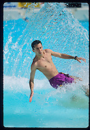 Wave pool in Etampes, France<br /> A demonstration aof skimboard, surf and bodyboard