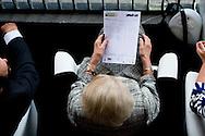 Prinses Beatrix op de tribune tijdens de kur op muziek bij het CHIO Rotterdam.  25-6-2016 ROTTERDAM - princess beatrix of the netherlands during the Chio Horses races in Rotterdam . copyright robin utrecht