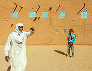 NIGER, Alessandra Morelli, UNHCR resposible in Niger with a total of 5 refugees camps., Agadez, the Sultan house.,