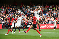 April 21, 2018 - Guingamp, France - 25 KAMIL GLIK (ASM) - 23 JIMMY BRIAND (GUI) - 05 JEMERSON (ASM) - 06 CLEMENT GRENIER  (Credit Image: © Panoramic via ZUMA Press)
