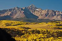 14,017 ft. Wilson Peak of the San Miguel Mountains during the autumn season, Colorado.