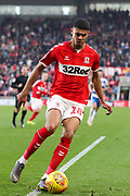 Middlesbrough forward Ashley Fletcher (18) in action during the EFL Sky Bet Championship match between Middlesbrough and Queens Park Rangers at the Riverside Stadium, Middlesbrough, England on 23 February 2019.